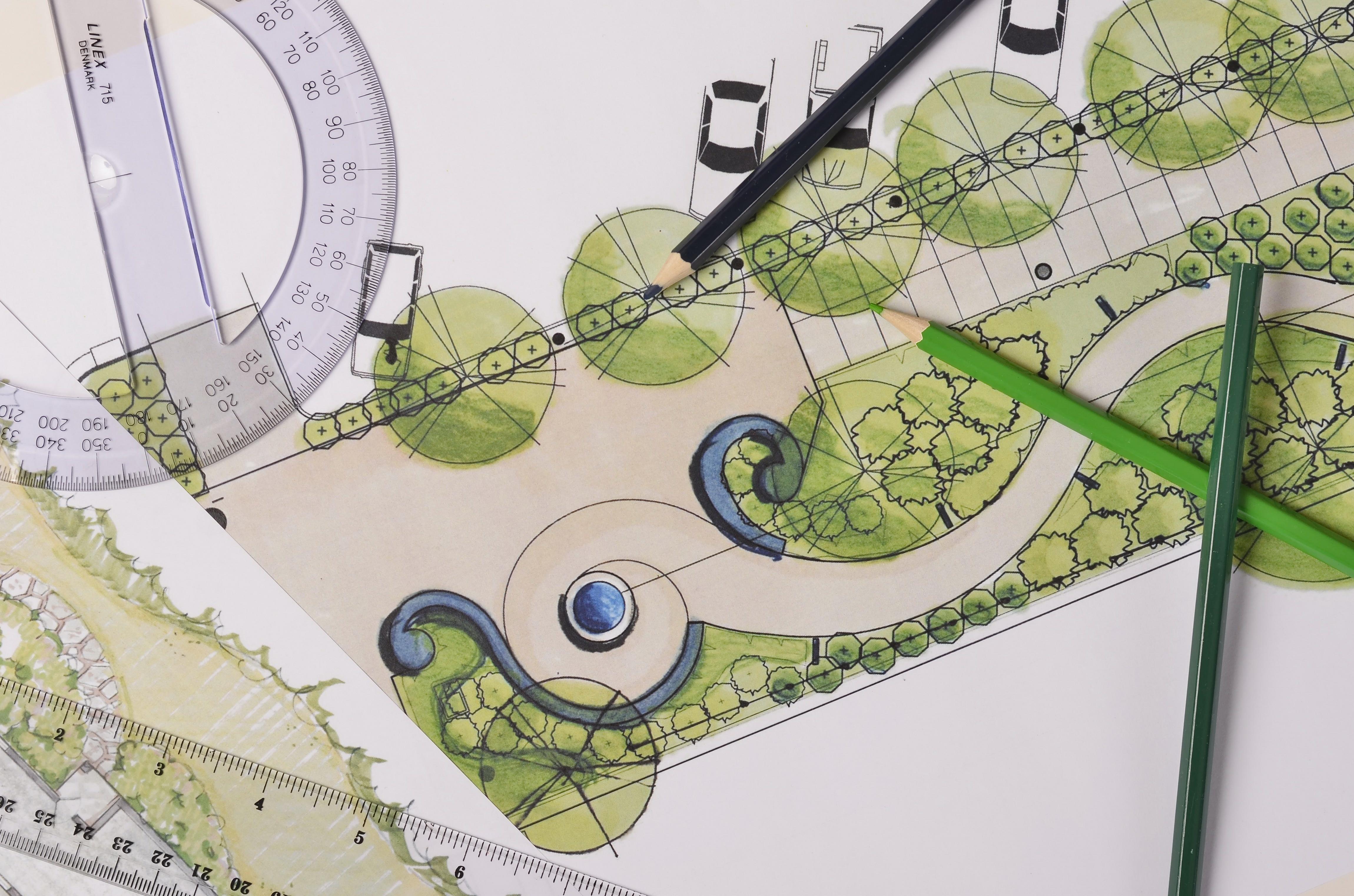 projekt planu ogrodu przydomowego