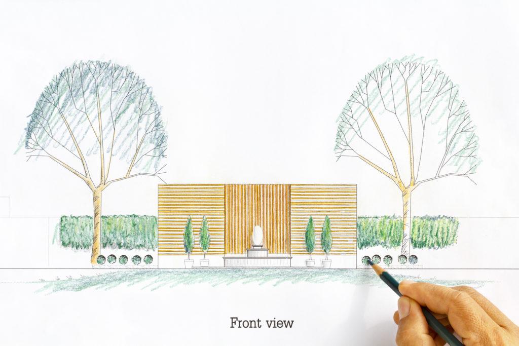 projekt planu ogrodu